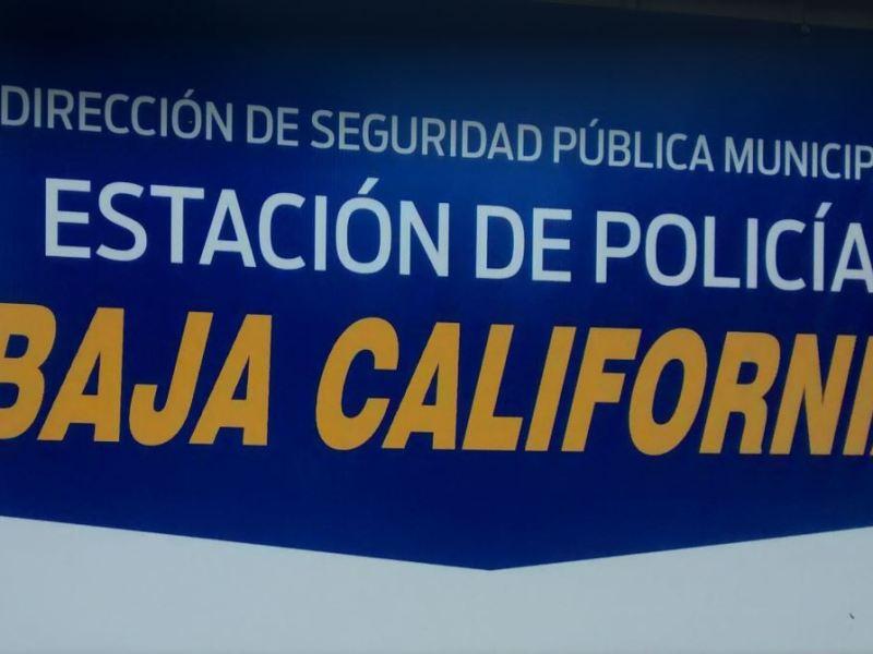 Baja Police sign