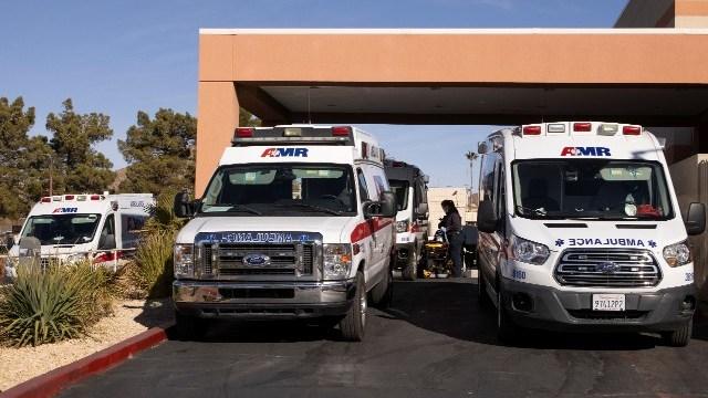 Ambulances at St. Mary Medical Center