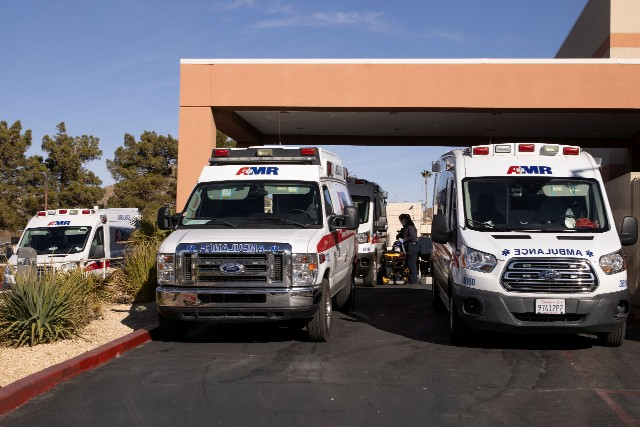 Ambulances at St. Mary Medical Center