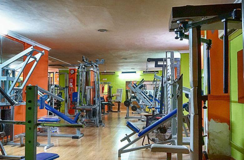 Empty fitness center