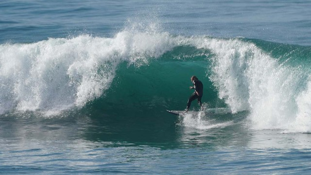 Barrels developed just north of Windansea in La Jolla which surfers thought were swell.
