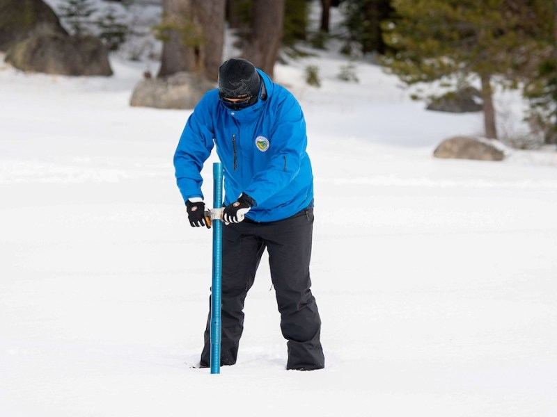 The first snow survey of 2021