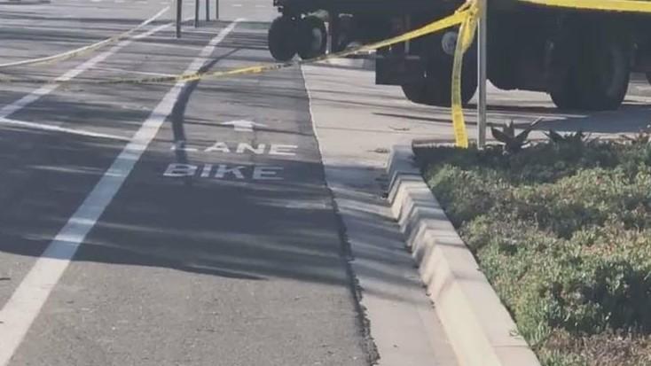 Bike lane where cyclist died