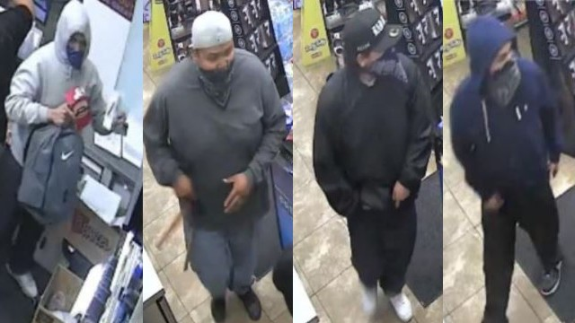 Surveillance photos of robbery suspects