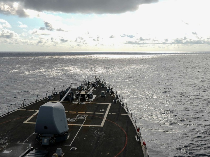 USS Russell in South China Sea