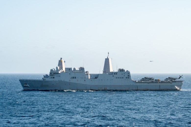 USS San Diego in the Indian Ocean