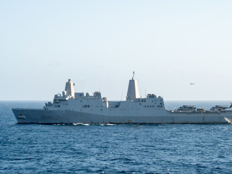 USS San Diego in the Indian Ocean
