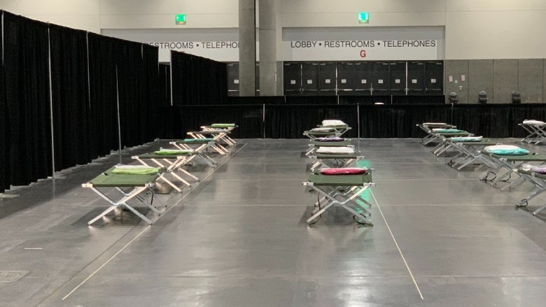 Cots for migrant children