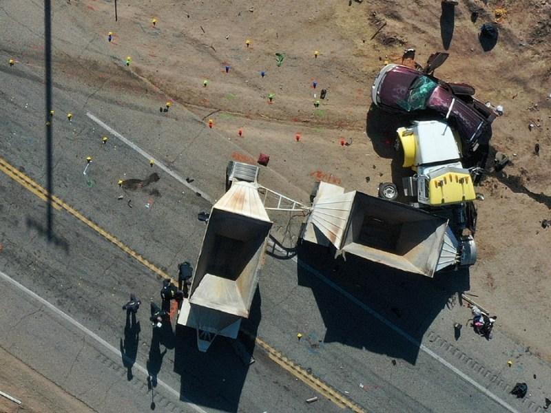 Crash scene near Holtville
