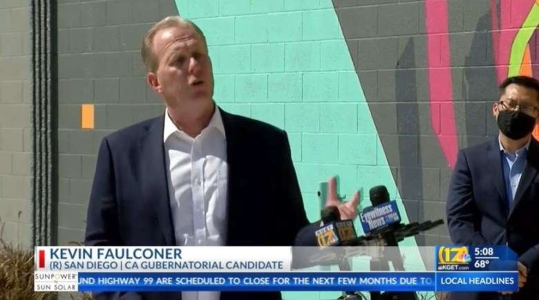 Kevin Faulconer in Bakersfield