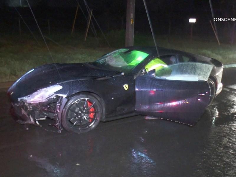 Ferrari wreckage