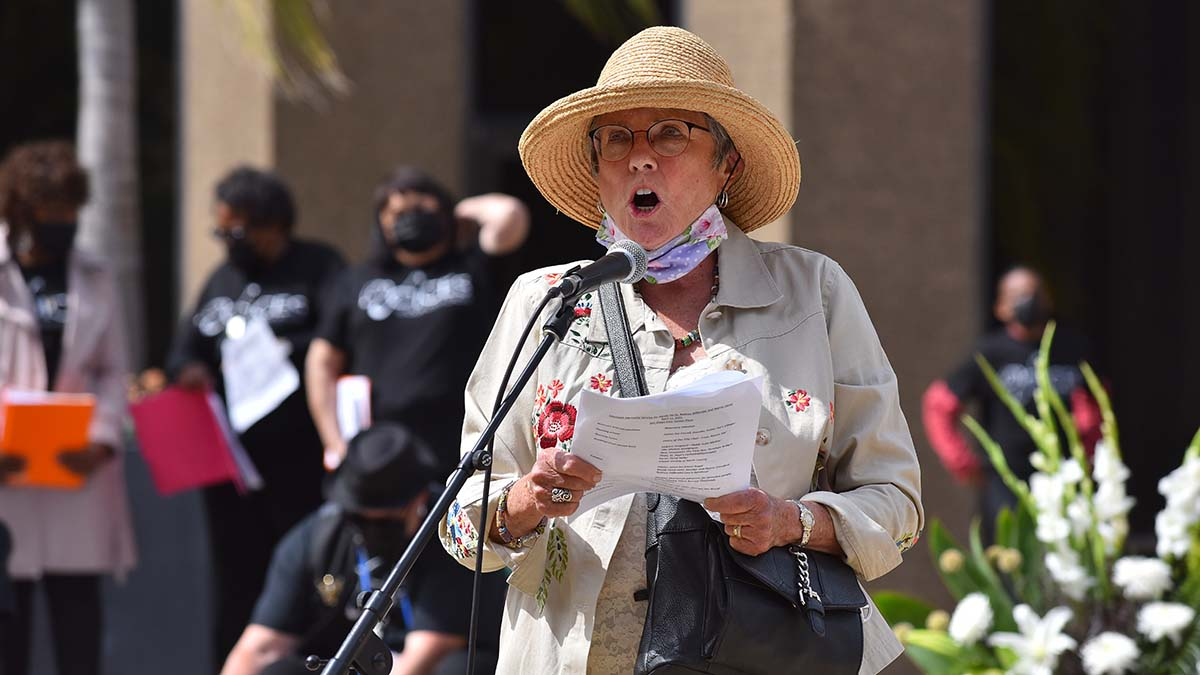Rosemary Johnston, Executive Director at Interfaith Shelter Network, organized the memorial service for three homeless men killed in a car crash near City College. Photo by Chris Stone
