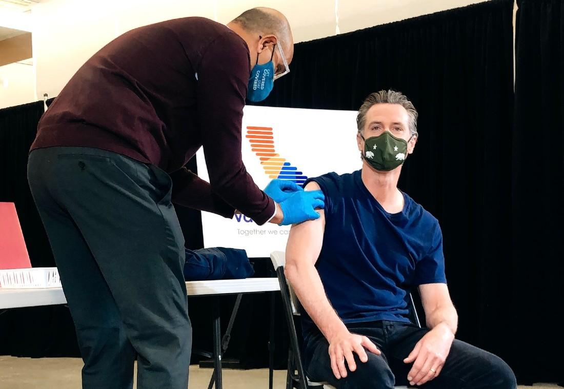 Gov. Newsom is vaccinated