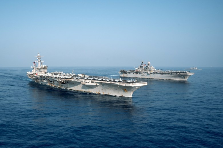 USS Theodore Roosevelt and USS Makin Island