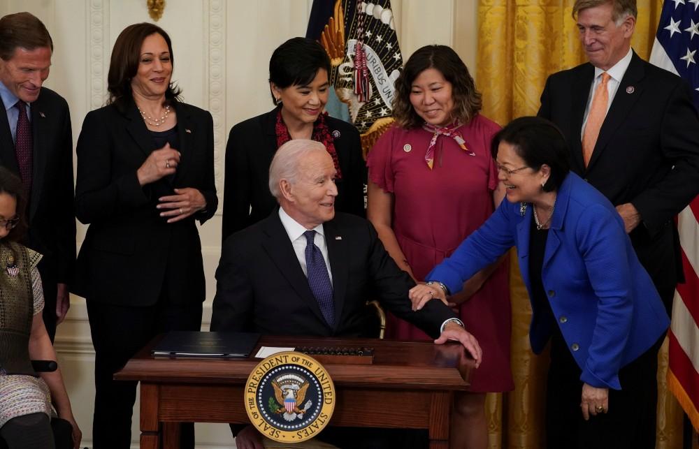 Biden signs hate crime bill