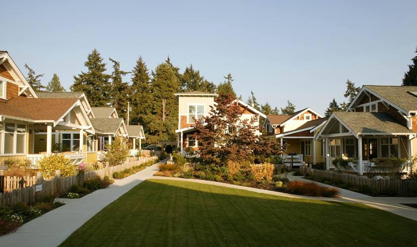 High-density single-family home community