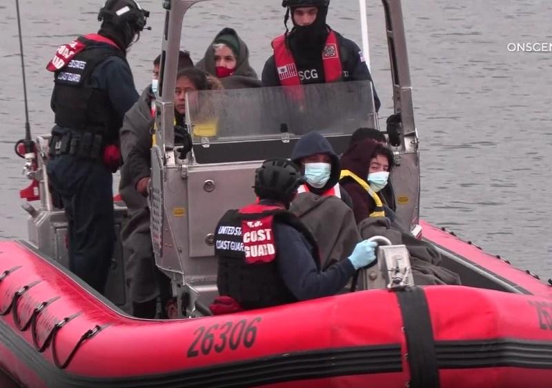 Paga passengers on Coast Guard boat