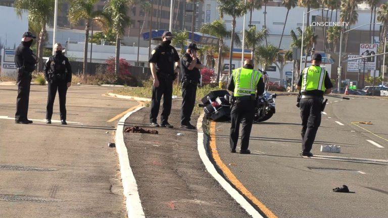 Crash scene on Pacific Highway