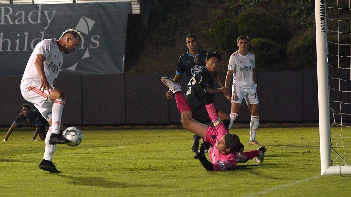 Corey Hertzog shoots for a goal. Photo by Chris Stone