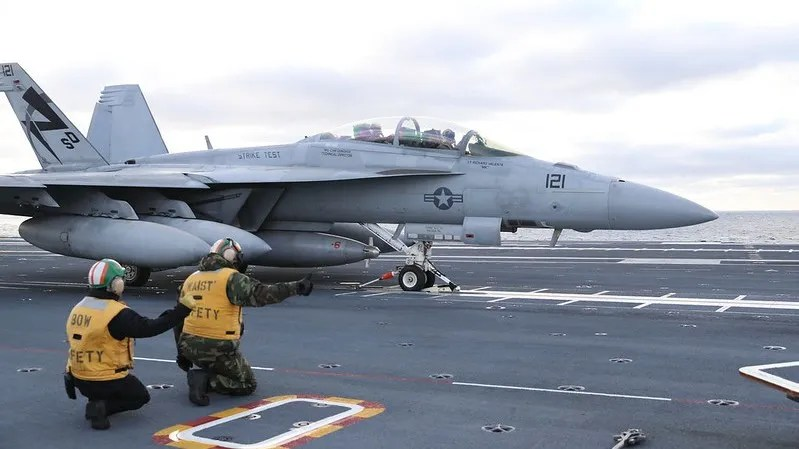 F/A-18 prepares to launch