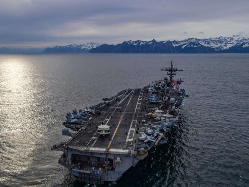 USS Theodore Roosevelt in the Gulf of Alaska