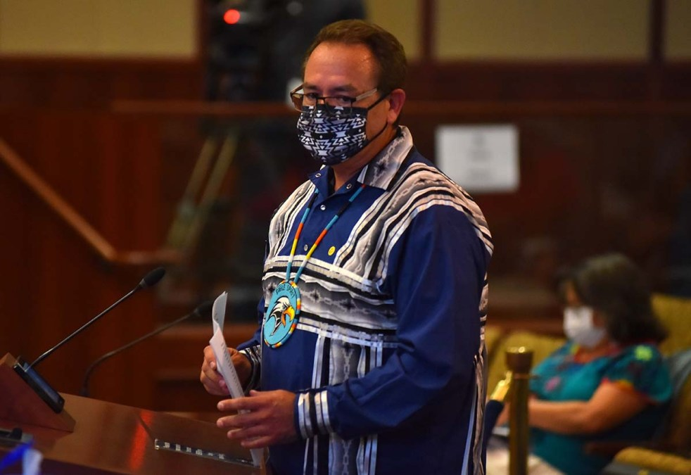 Speakers wore an assortment of culturally appropriate outfits