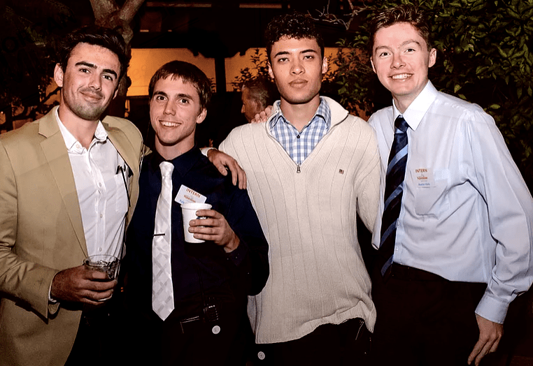 Will Seykora (right) was pictured among local Republican interns on the county GOP website.