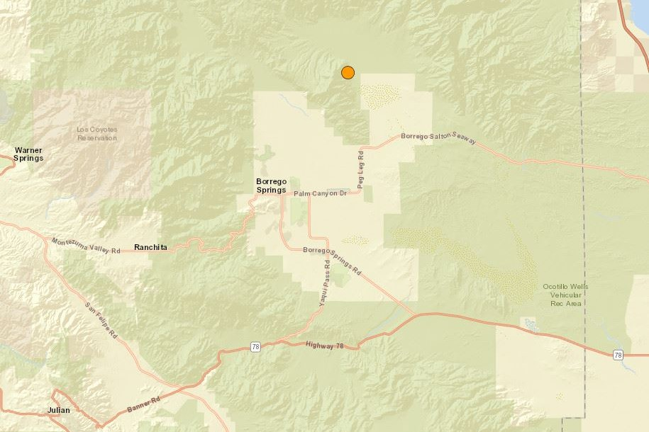 Map of earthquake location