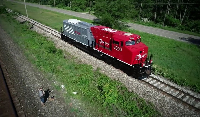 Wabtec battery-powered locomotive