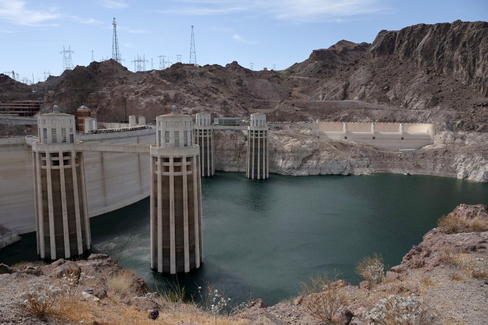 Low water level at Hoover Dam intake