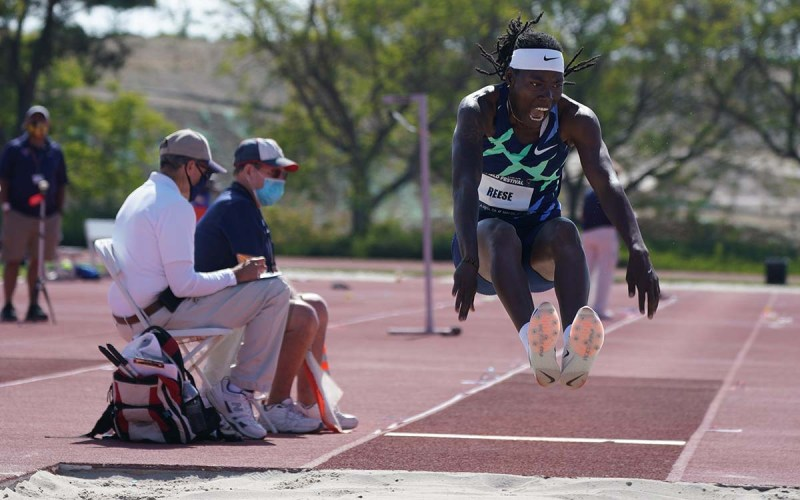 Brittney Reese, active on Twitter as @DaLJBeast, lands at Chula Vista Field Festival