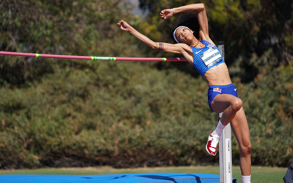 Olympian Vashti Cunningham will again compete at the Olympic Trials. Photo by Chris Stone