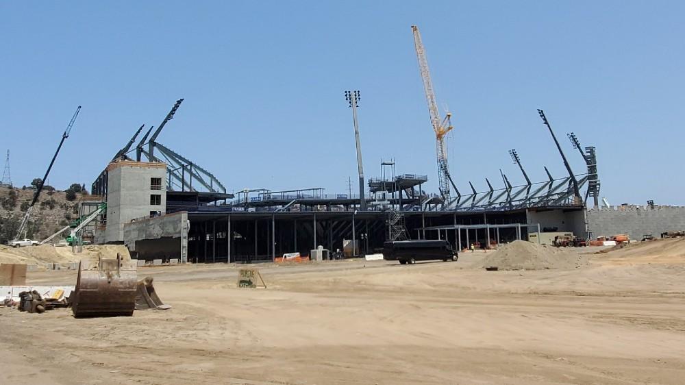Aztec Stadium construction