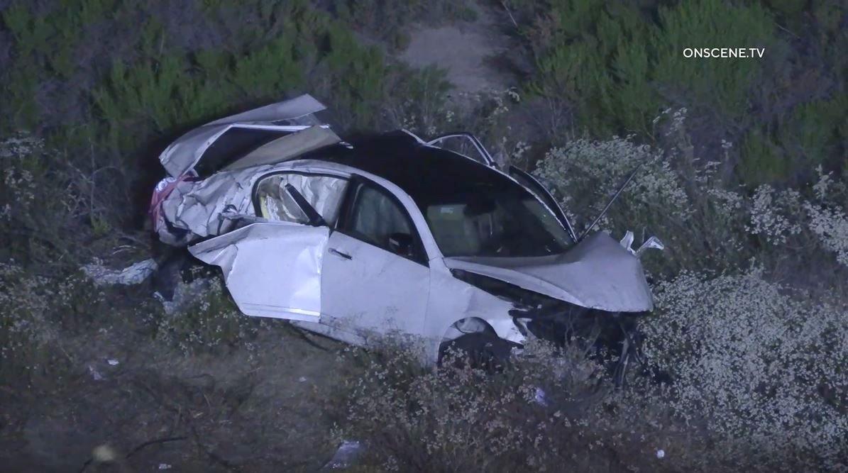 Sedan wreckage