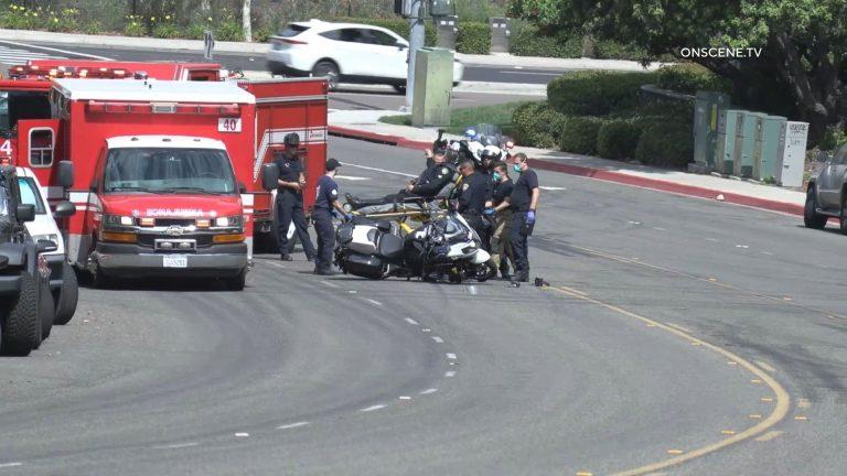 Injured officer outside ambulance