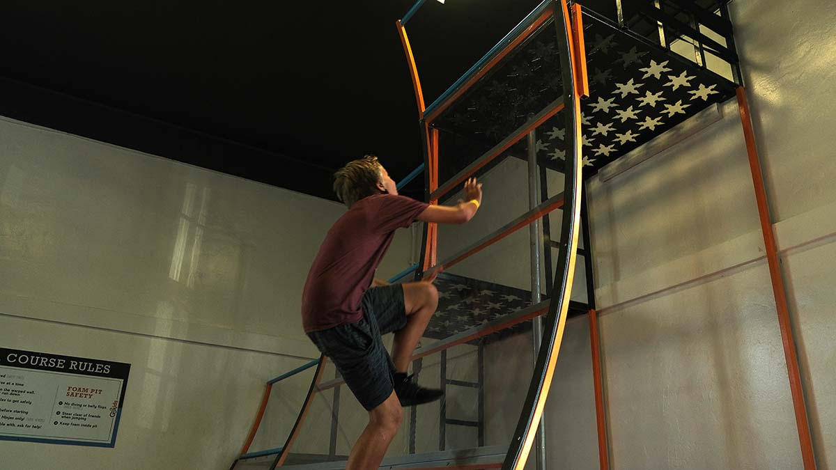 A parkour course at G3Kids was open to the youth in the race. Photo by Chris Stone