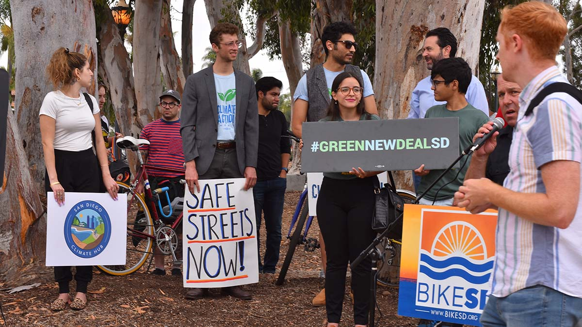 The San Diego County Bicycle Coalition, BikeSD were among the advocates to more bike lanes