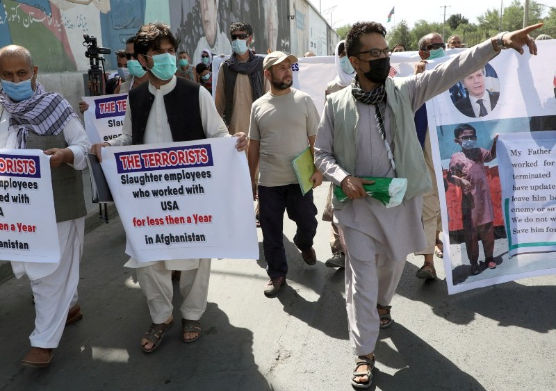 Afghan interpreters demonstrate