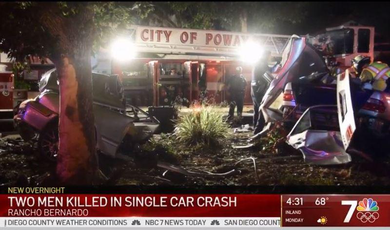 Wreckage after the crash in Rancho Bernardo