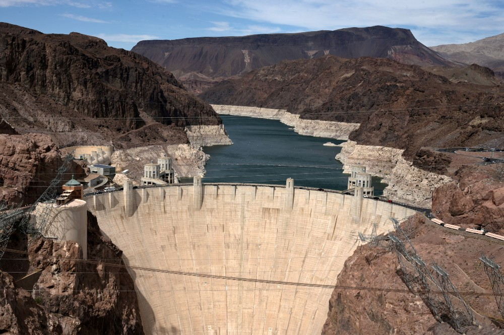 Low water level at Lake Mead