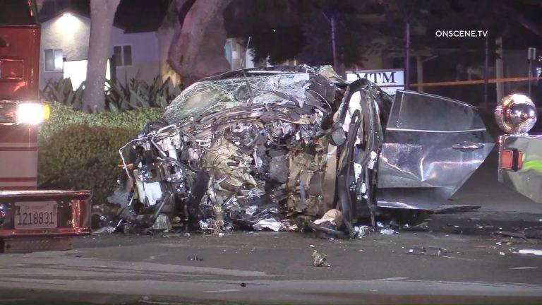 Honda Civic wreckage
