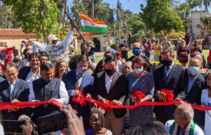 Ribbon cutting for new international cottages