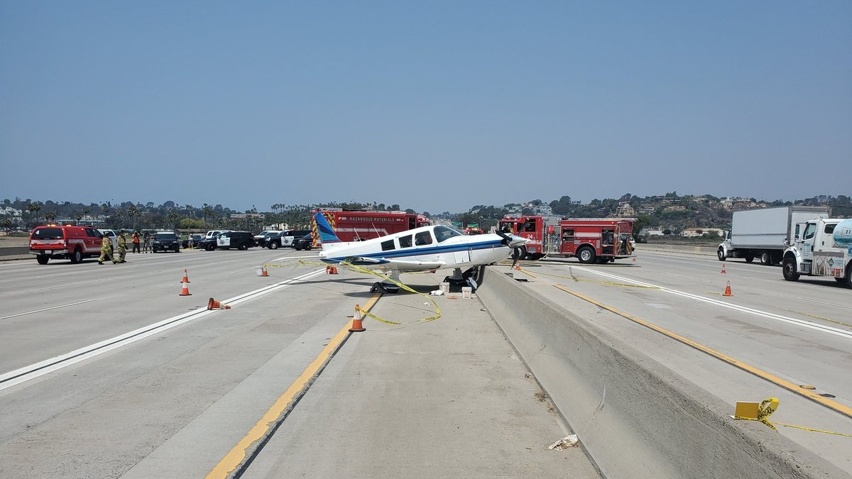 Plane on freeway