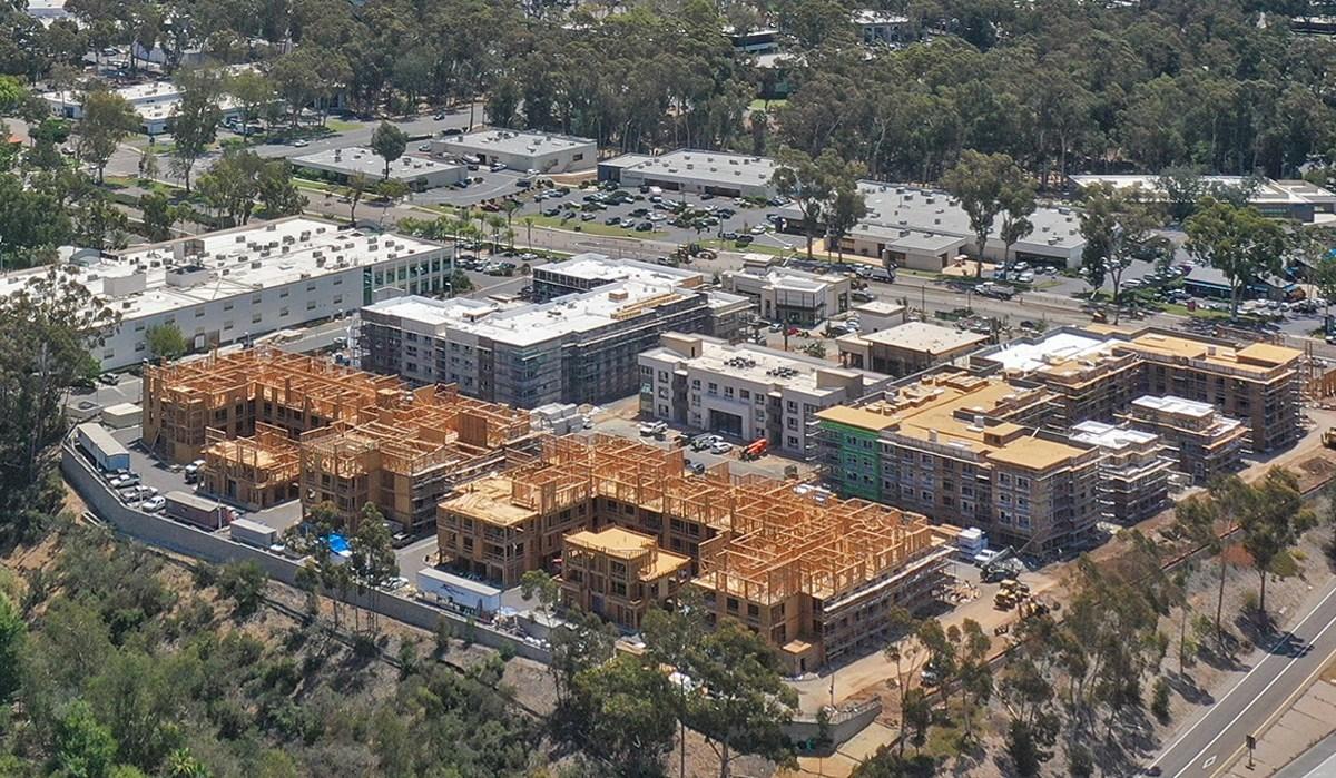 Construction at The Hub at Scripps Ranch