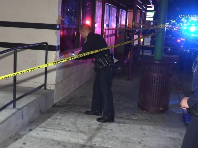 Police at scene of stabbing