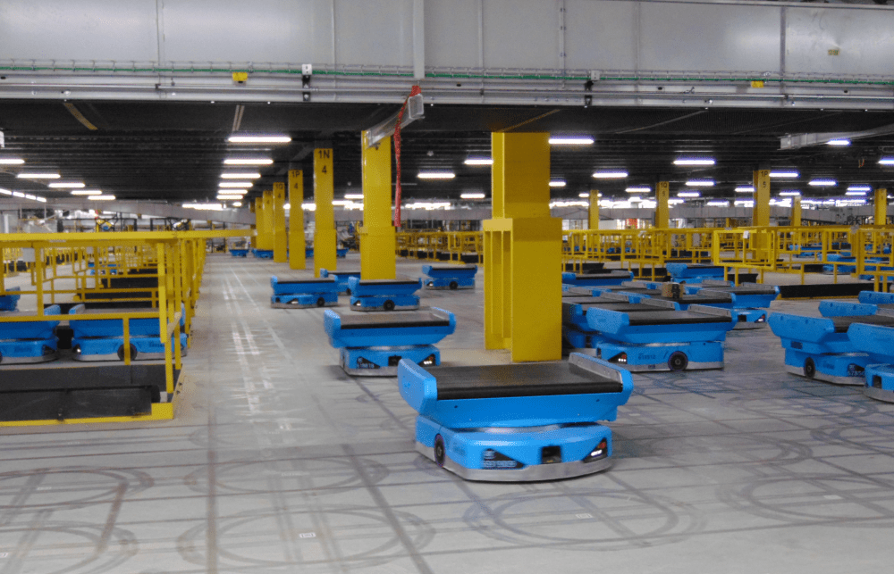 Robots at the fulfillment center