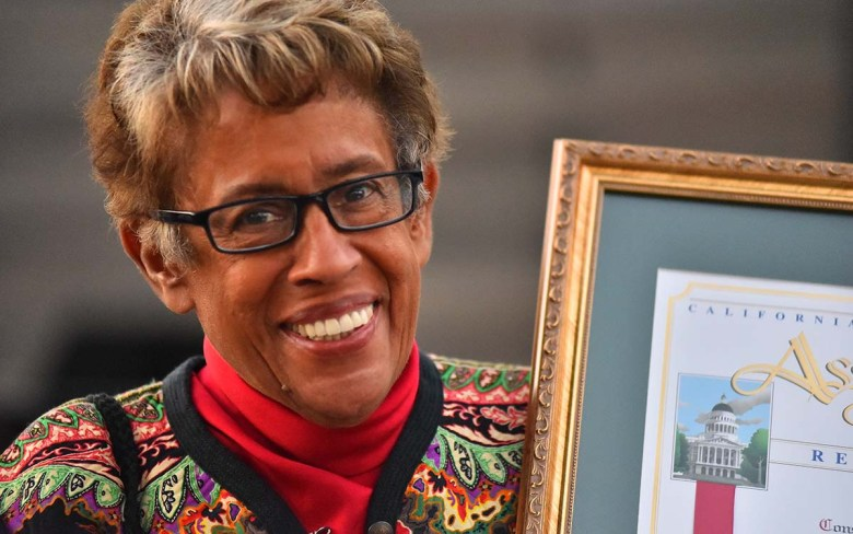 Constance Carroll received proclamations from the state Senate and Assembly. Photo by Chris Stone