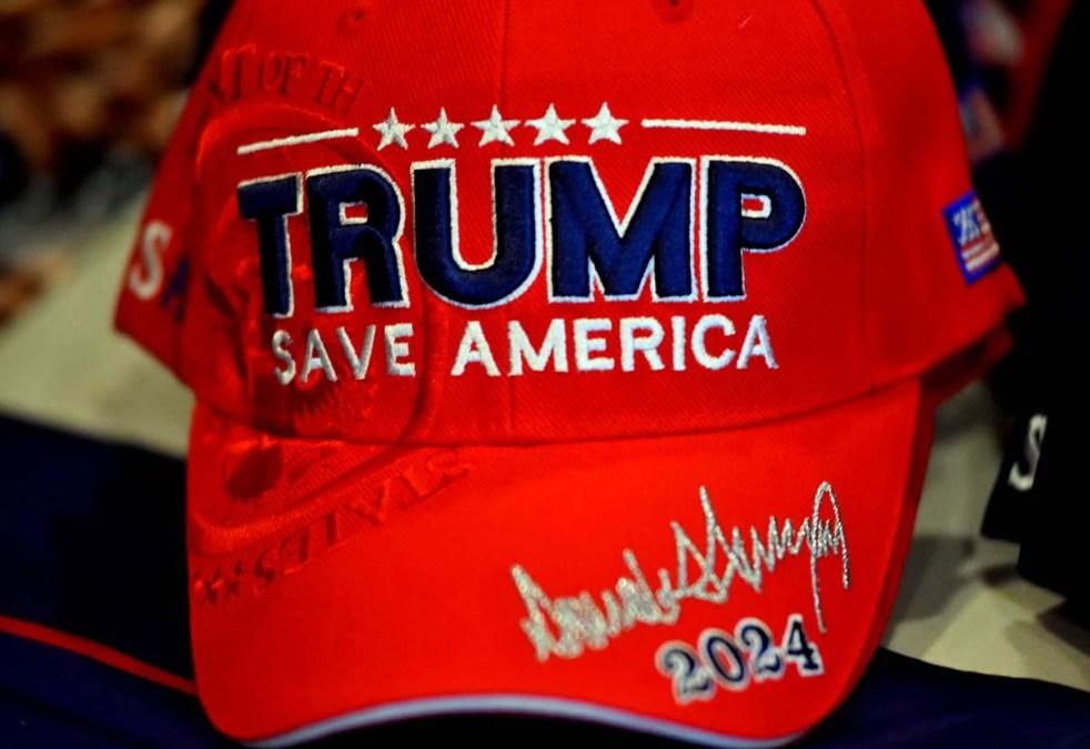 Trump hat at the Manchester Grand Hyatt.
