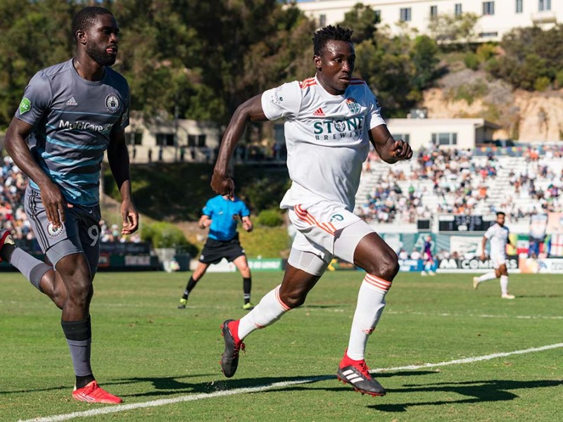 """Josh Yaro said of his first goal for Loyal: """"""""It was a little bit of a revenge if you can call it that."""""""