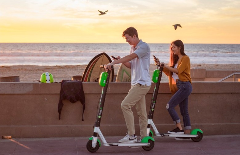 Lime shared scooters